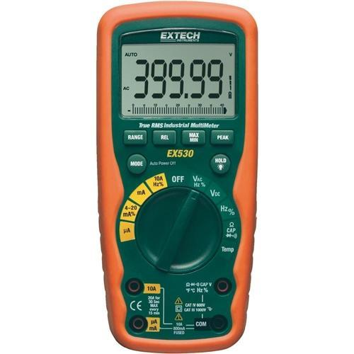 Extech EX530: 11 Function Heavy Duty True RMS Industrial MultiMeter - anaum.sa