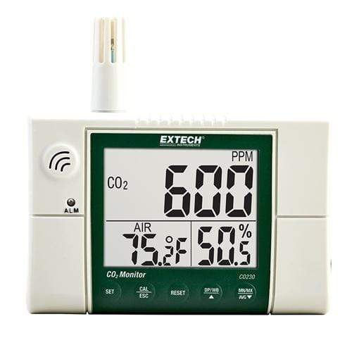Extech CO230: Indoor Air Quality, Carbon Dioxide (CO2) Monitor - anaum.sa