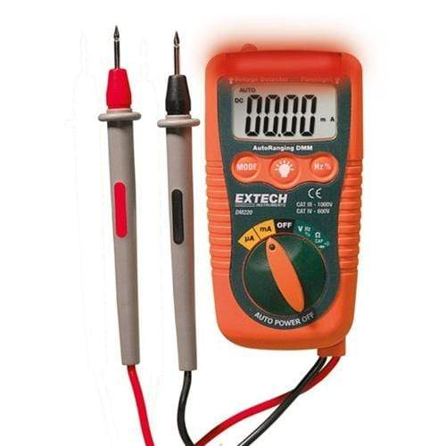 Extech DM220: Mini Pocket MultiMeter with Non-Contact Voltage Detector - anaum.sa
