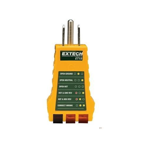 Extech ET15: Receptacle Tester - anaum.sa