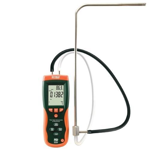 Extech HD350: Pitot Tube Anemometer + Differential Manometer - anaum.sa