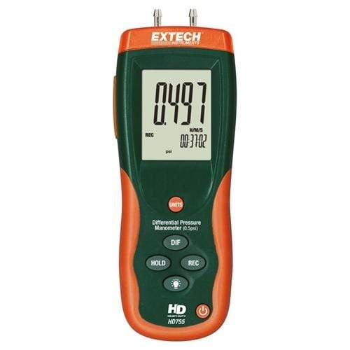 Extech HD755: Differential Pressure Manometer (0.5psi) - anaum.sa