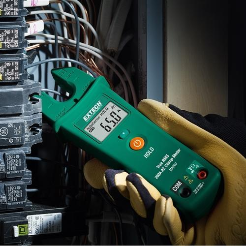 Extech MA260: True RMS 200A AC Open Jaw Clamp Meter - anaum.sa