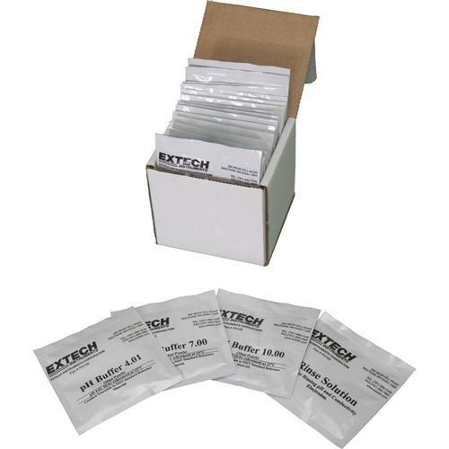 Extech PH103: Tripak Buffer Pouches (4, 7 and 10pH plus rinse solution) - anaum.sa