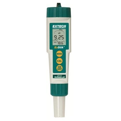 Extech PH110: ExStik Refillable pH Meter - anaum.sa