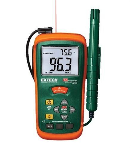 Extech RH101: Hygro-Thermometer + InfraRed Thermometer - anaum.sa