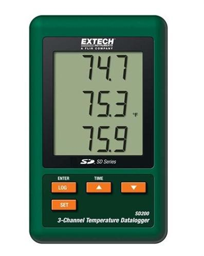 Extech SD200: 3-Channel Temperature Datalogger - anaum.sa