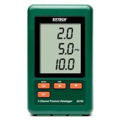 Extech SD750: 3-Channel Pressure Datalogger - anaum.sa