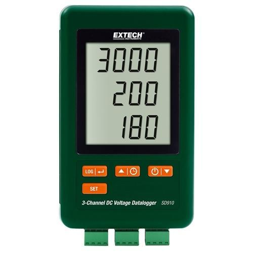 Extech SD910: 3-Channel DC Voltage datalogger - anaum.sa