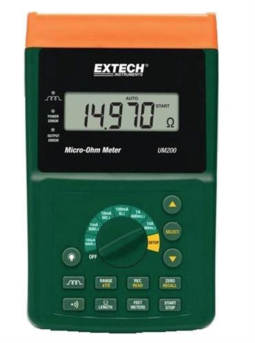 Extech UM200: High Resolution Micro-Ohm Meter - anaum.sa
