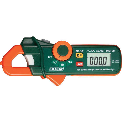 Extech MA120: 200A AC/DC Mini Clamp Meter+Voltage Detector - anaum.sa