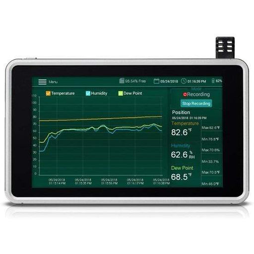 Extech RH550 : Humidity/Temperature Chart Recorder with Touch Screen - anaum.sa