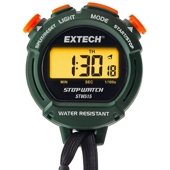 Extech STW515 : Stopwatch/Clock with Backlit Display - anaum.sa