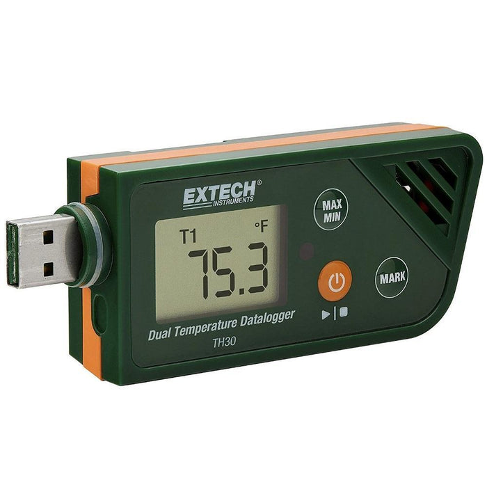 Extech TH30: USB Dual Temperature Datalogger - anaum.sa