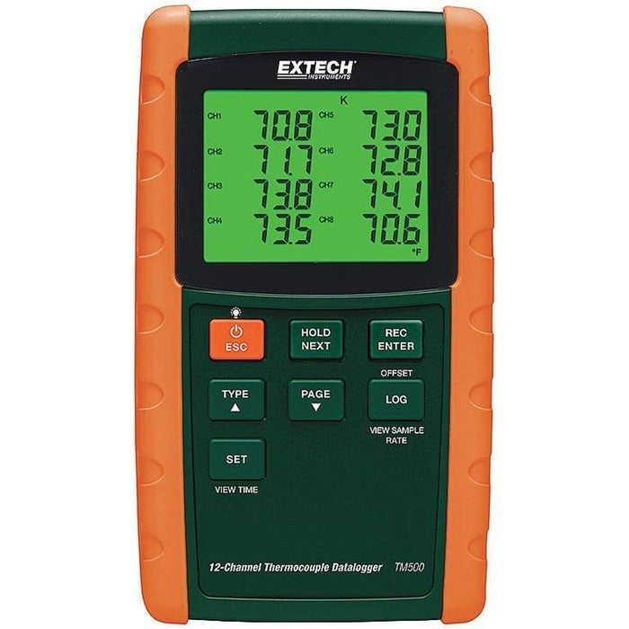 Extech TM500: 12-Channel Datalogging Thermometer - anaum.sa