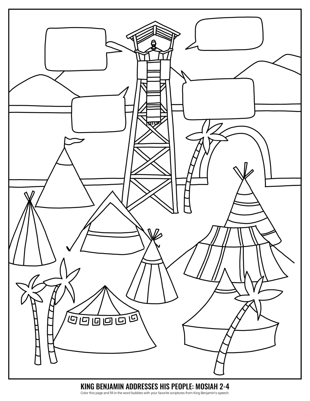 King Benjamin Coloring Page