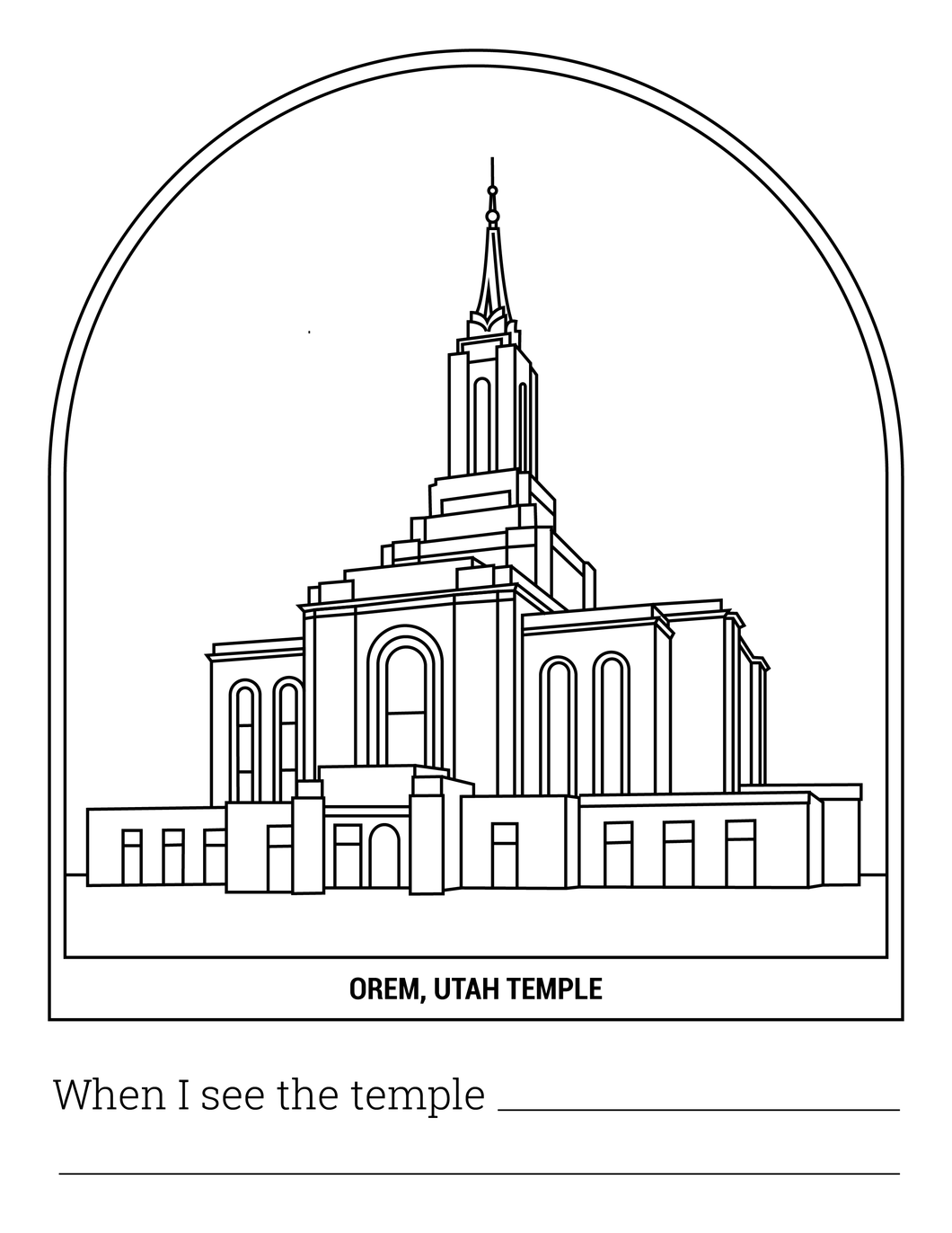 Orem Temple Coloring