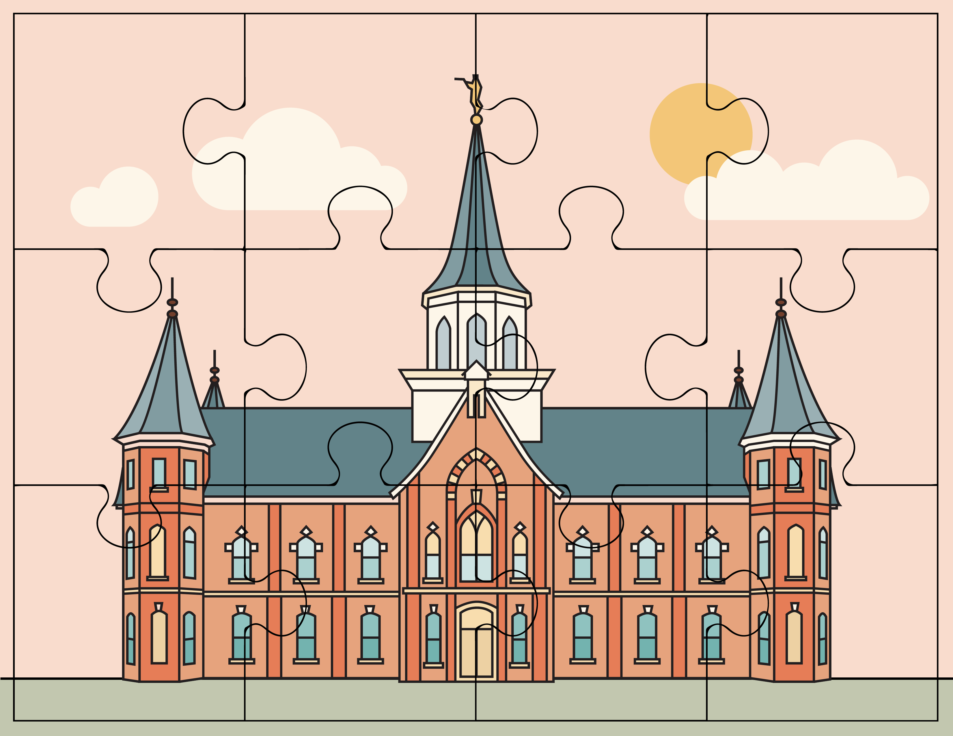 Provo City Center Temple Puzzle