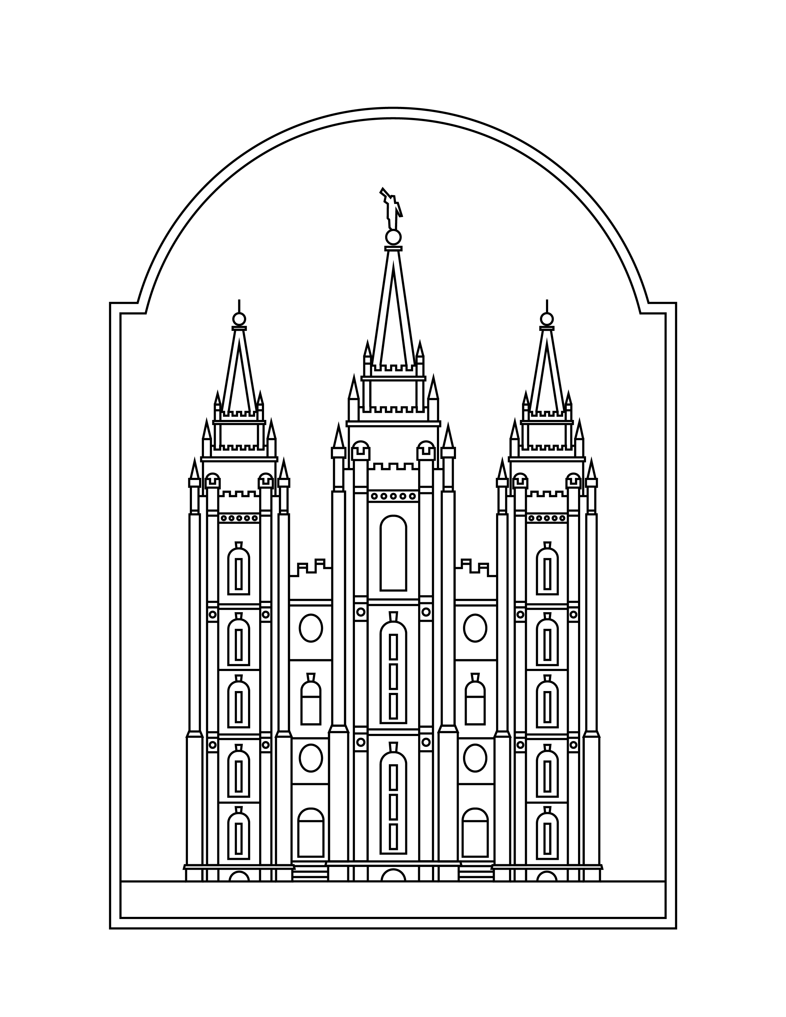 Salt Lake Temple Coloring Page