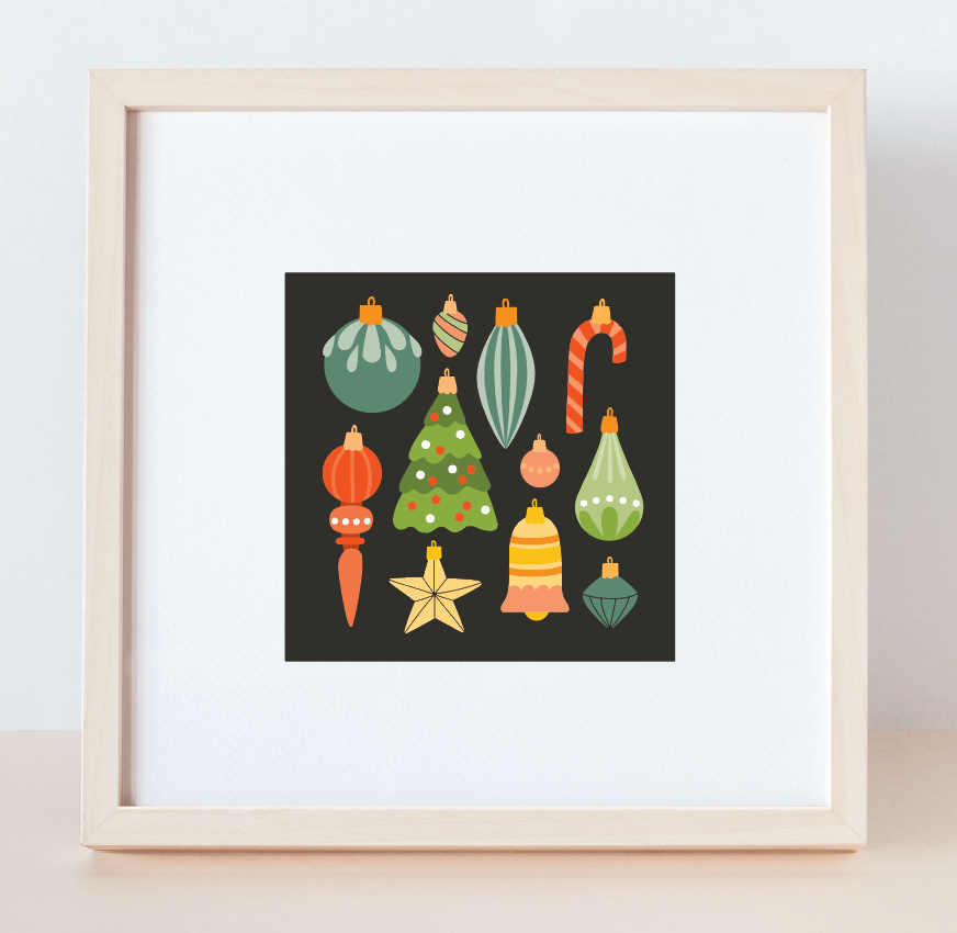 Christmas Ornament Print
