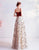 Square Neckline A-line Prom Dress with Flower Tulle Skirt