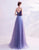Spaghetti Straps Sweat Heart Neck A-line Prom Dress with Flower Appliques