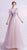 Deep V Neck Fairy Style A-line Evening Dress with Flower Appliques
