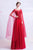 Scoop Neck Long Sleeve A-line Evening Dress with Flower Appliques