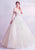 Off-the-shoulder Organza Wedding Dress with Cathedral Train