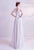 Deep V Neck Cap Sleeve Split Front Chiffon Wedding Dress