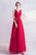 Deep V Neck Regular Straps Prom Dress with Floral Sash