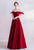 Off the Shoulder Pleated Skirt Princess Style Satin Prom Dress