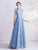 Preppy style Pleated Skirt A-Line Prom Dress with Court Train
