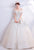Off the Shoulder Tulle Wedding Dress with Floral Sequins & Appliques
