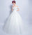 Off the Shoulder French Style Wedding Dress with Chapel Train