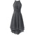 High Neck Strapless Asymmetrical Hem Chiffon Bridesmaid Dress