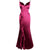 Deep V Neck Spaghetti Straps Mermaid Taffeta Bridesmaid Dress