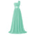 One Shoulder A-line Chiffon Bridesmaid Dress with Sweep Train