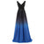 Deep V Neck Regular Straps Full Length Chiffon Bridesmaid Dress
