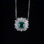 1 Ct Emerald Pendant White Gold Plated 925 Silver Necklace