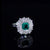 1 Ct Emerald Gem White Gold Plated 925 Silver Ring