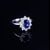 1.5 Ct Oval Shape Sapphire Gem White Gold Plated 925 Silver Ring
