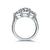 2.5 Ct Square Cushion Shape Diamond White Gold Plated 925 Silver Ring