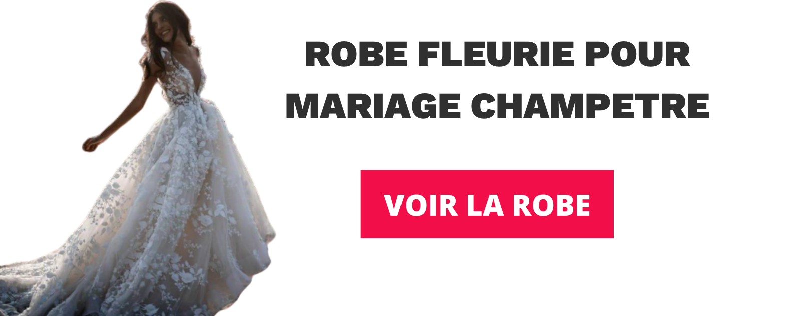 ROBE FLEURIE POUR MARIAGE CHAMPETRE