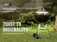 Load image into Gallery viewer, Weber Original Charcoal Grill, 18""