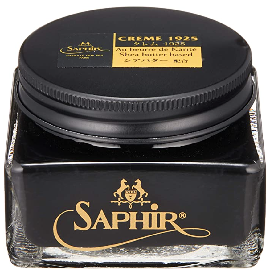 Black Cream Leather Shoe Polish Saphir Medaille d'Or Pommadier