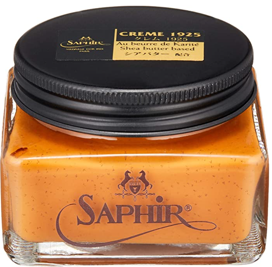 Light Brown / Tan Cream Leather Shoe Polish Saphir Medaille d'Or Pommadier