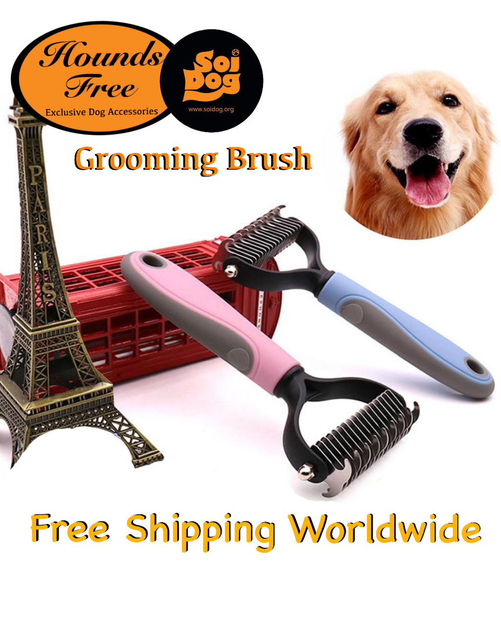 Hounds Free Grooming Brush