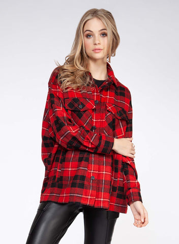 Red Plaid Shacket