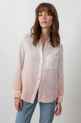 Ellis Shirt -Blush Dip Dye